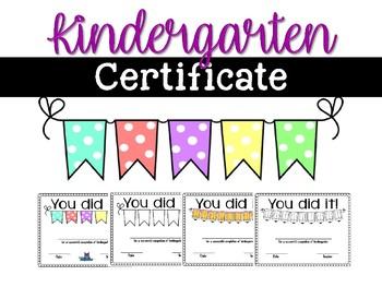 kindergarten certificate promotion graduation by cheering into kinder