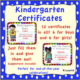 Kindergarten Certificates  FREEBIE