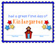 Kindergarten Certificates and Student of the Month Awards