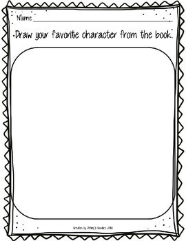 Kindergarten Character Graphic Organizer worksheets with Lesson (RL.K.3)