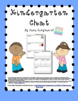 Kindergarten Chat Freebie
