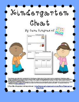Kindergarten Chat Freebie