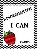 Kindergarten Chevron I CAN statement cards