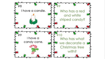 Kindergarten Christmas Artifacts and Symbols I Have Who Has Activity