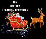 Preschool & Kindergarten Winter Holidays Learning and acti