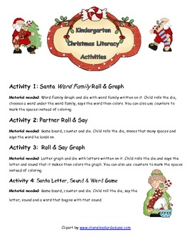 Kindergarten Christmas Activities