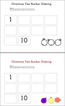 Kindergarten Christmas Activities (Numbers and ABCs)