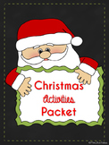 Kindergarten Christmas Activities Packet