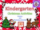 Kindergarten Christmas Activities PowerPoint and Booklet