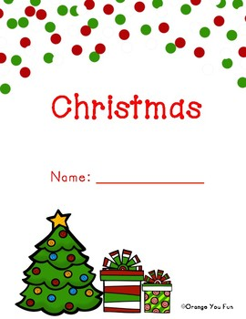 Kindergarten Christmas Math and Literacy Activity Bundle Package (11 pages)