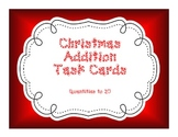 Kindergarten Christmas Addition Task Cards