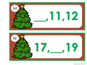 Kindergarten Christmas Center Bundle- Math Centers, Literacy Centers, Writing