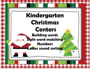 Kindergarten Christmas Centers