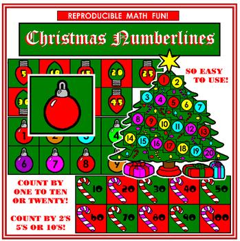 Kindergarten Christmas Cut and Paste Numberlines
