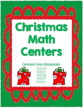 Kindergarten Christmas Holiday Math Centers