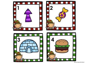 Kindergarten Christmas Literacy Center - Beginning Sounds