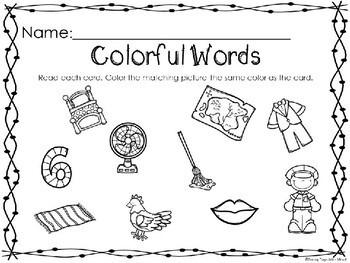 Kindergarten Christmas Literacy Center - CVC Words