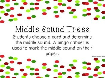 Kindergarten Christmas Literacy Center - Middle Sound Trees