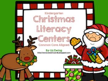Kindergarten Christmas Literacy Centers - Common Core Aligned