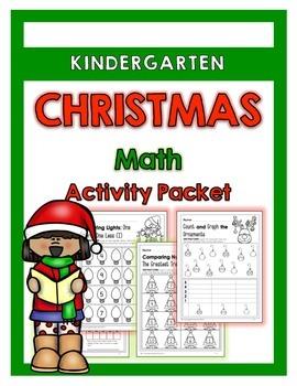 {Kindergarten} Christmas Math Activity Packet