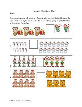 Kindergarten Christmas Math Bundle- D.J. Inkers Clipart