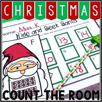 Kindergarten Christmas Math Center - Count the Room