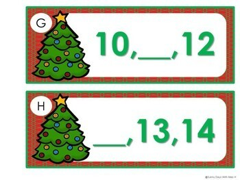 Kindergarten Christmas Math Center - Missing Number