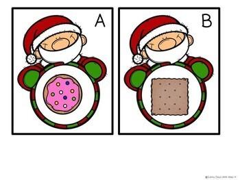 Kindergarten Christmas Math Center - Santa's Shapes