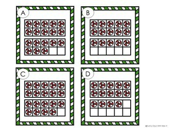 Kindergarten Christmas Math Center - Tasty Ten Frames