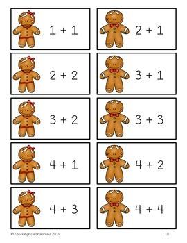 Kindergarten Christmas Math Centers