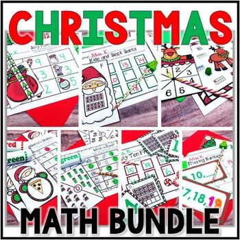 Kindergarten Christmas Math Centers- 7 December Math Centers