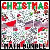 Kindergarten Christmas Math Centers- 7 December Math Centers Bundle