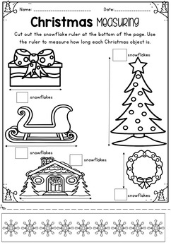 Kindergarten Christmas Math & Literacy Packet ~ Prep / Foundation
