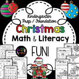 Kindergarten Christmas Math & Literacy Packet ~ Prep / Foundation
