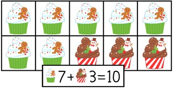 Kindergarten Christmas Math and Literacy Centers