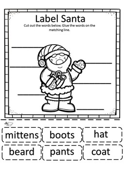 Christmas Math and Literacy Kindergarten Freebie