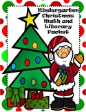 Christmas Math and Literacy Packet Kindergarten