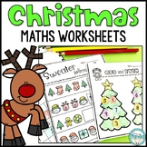 Kindergarten Christmas Maths Worksheets - No Prep