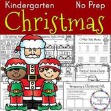 Kindergarten Christmas Packet | No Prep | ELA & Math
