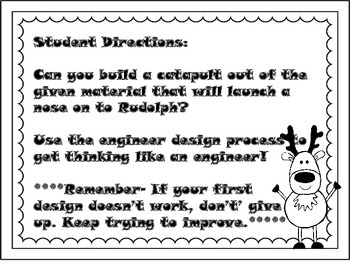 Kindergarten Christmas STEM challenge- Fix Rudolph
