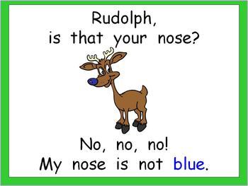 Kindergarten Christmas Shared Reading PowerPoint Rudolph's Nose
