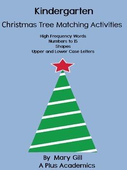 Kindergarten Christmas Tree Matching Activities