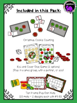 Christmas/Winter Math Centers for Pre-K and Kindergarten