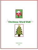 Kindergarten Christmas Word Wall and Common Core Writing P