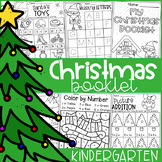 Kindergarten Christmas Worksheet Booklet