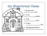 Kindergarten Christmas writing:  Gingerbread man and snow man