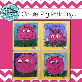 Art Lesson: Circle Pigs