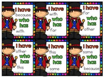 I Have..Who Has Circus Theme {Editable}