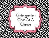 Kindergarten Class At A Glance Data Organization Notebook