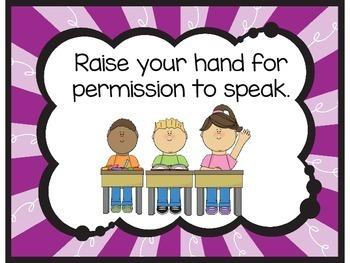 Kindergarten Class Rules | Kindergarten Classroom Rules Posters